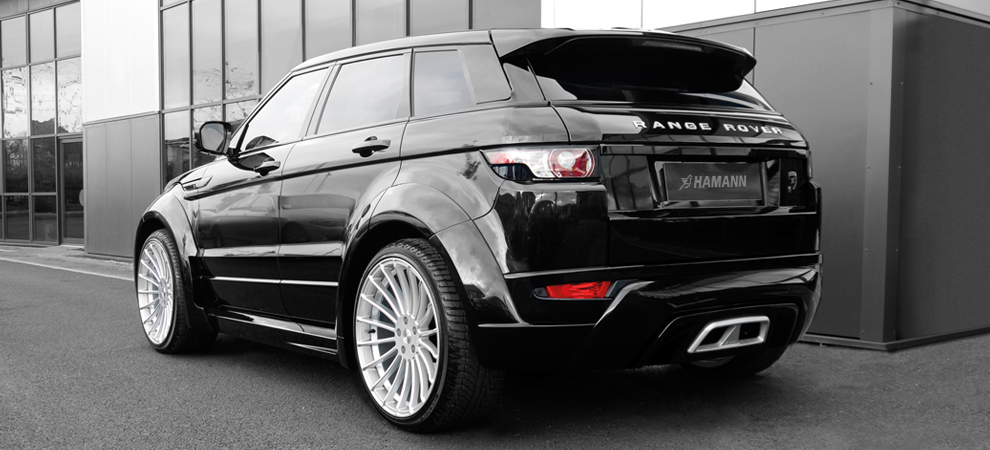 Hamann range rover evoque 5 door widebody for Garage land rover nancy